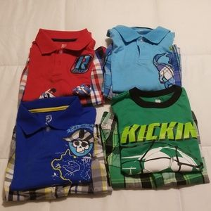 Bundle of 6 Garanimals Boy Summer Shirts & Shorts